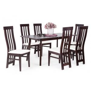 Lara étkező Dorka asztallal-Canterbury asztal-Wenge-Egyszínű szövetes szék